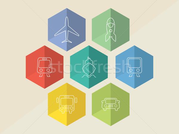 Diseno ecommerce iconos signo tienda información Foto stock © graphit