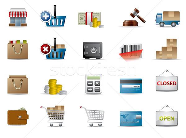 ショッピング eコマース アイコン 車 デザイン トラック ストックフォト © graphit