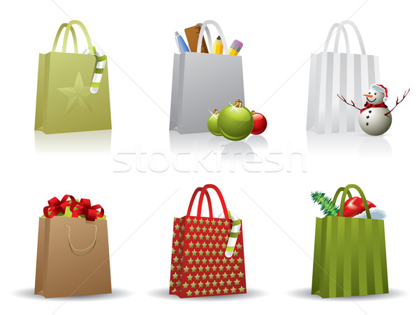 Christmas shopping bag Stock photo © graphit