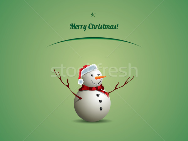 Christmas postcard with snowman Stock photo © graphit