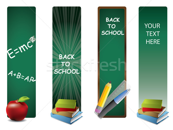 Back to school vertical banners Stock photo © graphit