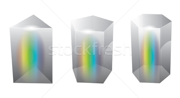 Vector glass prism Stock photo © graphit