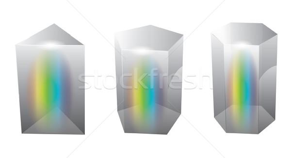 Vektör cam prizma soyut ışık arka plan Stok fotoğraf © graphit