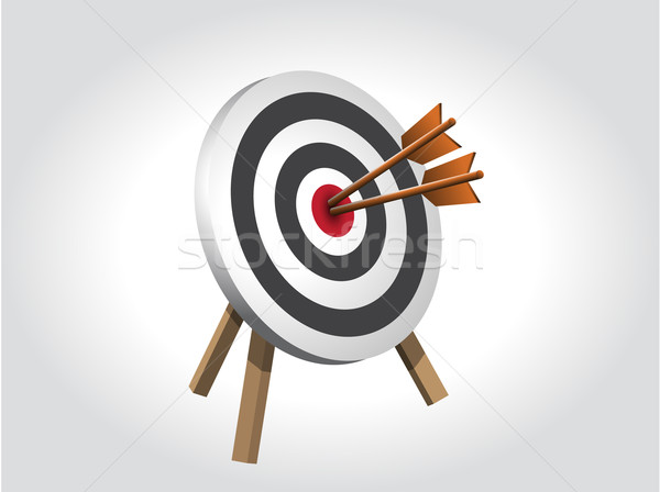Arrows Hitting A Target, Vector illustration Stock photo © graphit