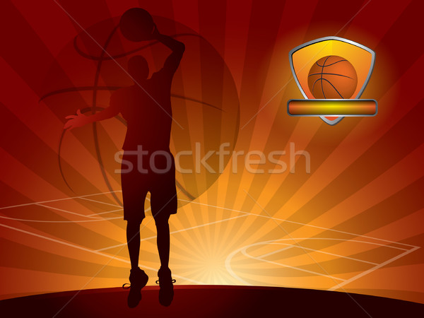 Basketball player with a ball Stock photo © graphit
