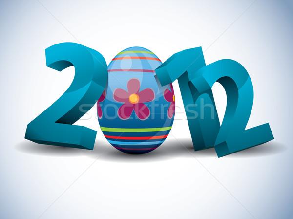 2012 œuf de Pâques heureux résumé design oeuf Photo stock © graphit