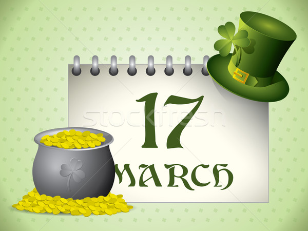 St.Patrick's Day calendar background Stock photo © graphit