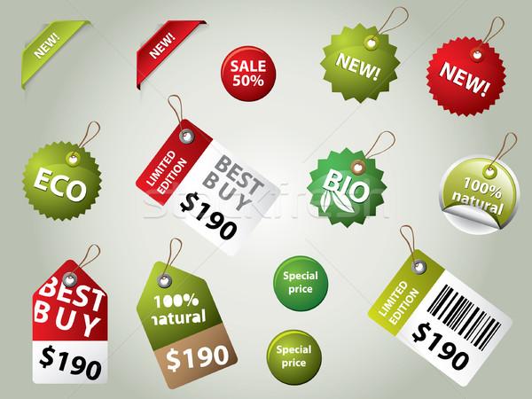 Raccolta vendita etichette badge business segno Foto d'archivio © graphit