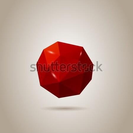 Absztrakt gömb üveg háttér keret művészet Stock fotó © graphit