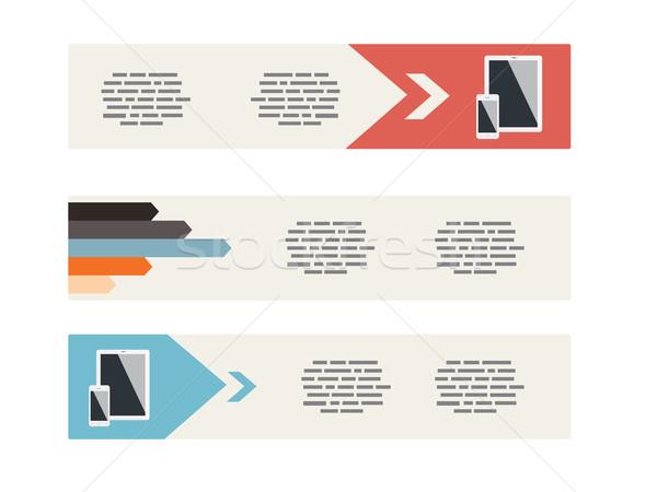 Ui estilo moderno banners Internet web Foto stock © graphit