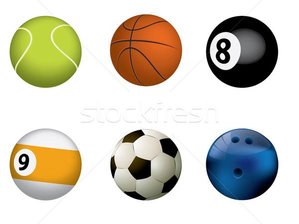Deporte baloncesto naranja béisbol equipo Foto stock © graphit