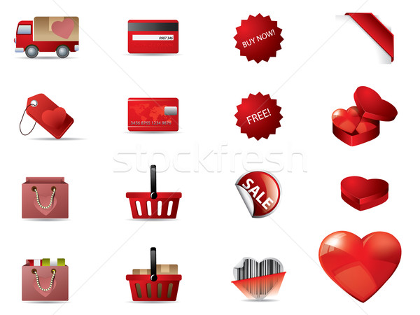 Valentine's day icons Stock photo © graphit