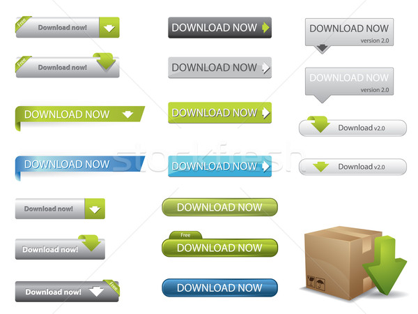 Website download buttons Stock photo © graphit