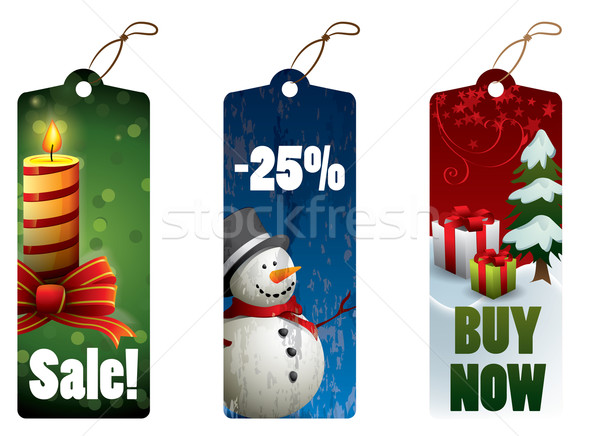 Christmas discount tags Stock photo © graphit