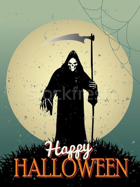 Halloween affiches main fête résumé design Photo stock © graphit