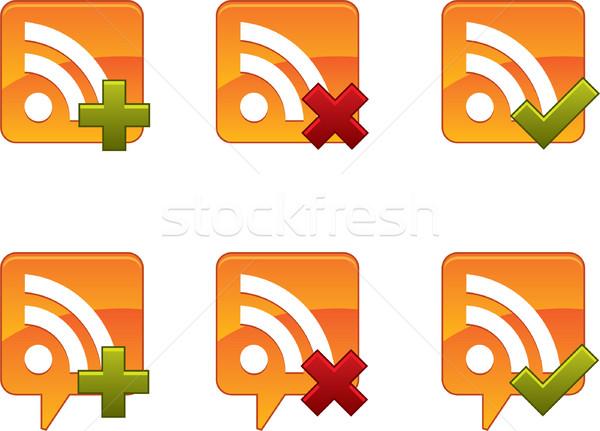 Rss música teia comunicação trancar Foto stock © graphit