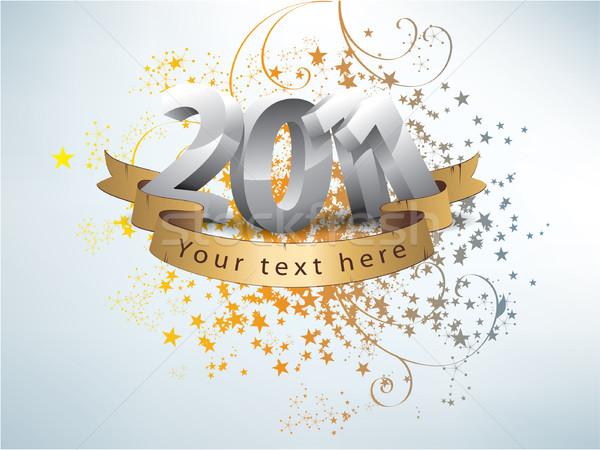 Feliz año nuevo 2011 resumen color wallpaper patrón Foto stock © graphit