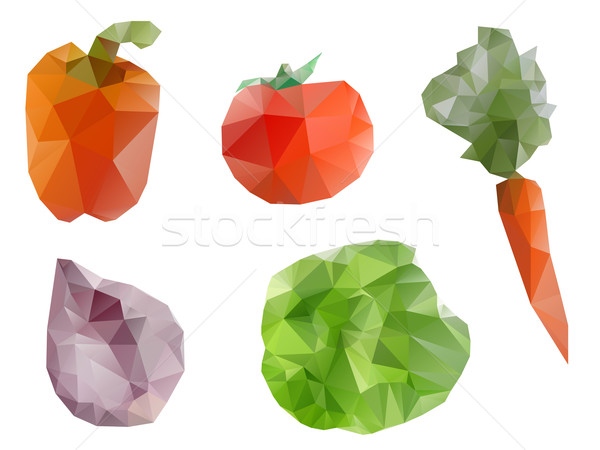 Polygonal geometric vegetables Stock photo © graphit