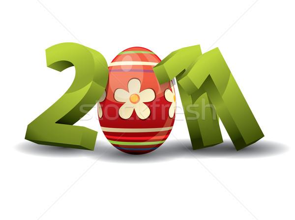 2011 Pascua feliz resumen diseno huevo Foto stock © graphit