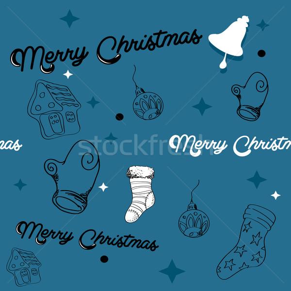 Natal bola papel de parede padrão desenho Foto stock © graphit