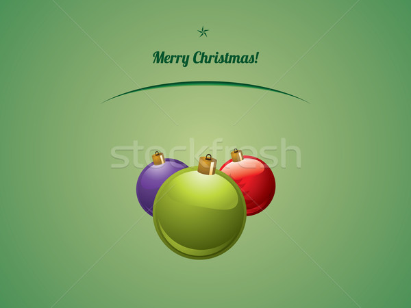 Christmas shiny baubles postcard Stock photo © graphit