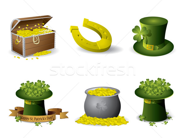 Saint Patrick's Day symbols vector set Stock photo © graphit