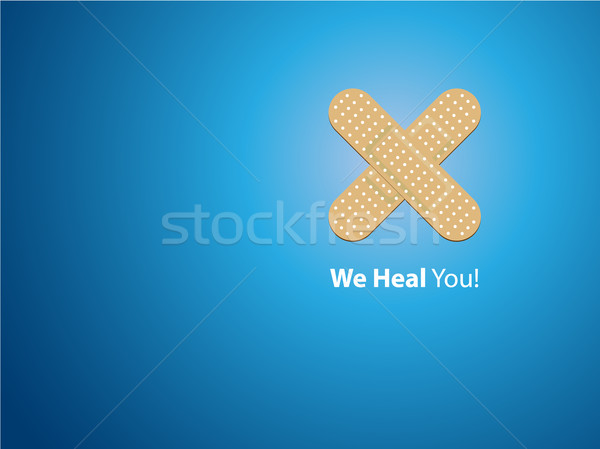 We heal you - blue background Stock photo © graphit