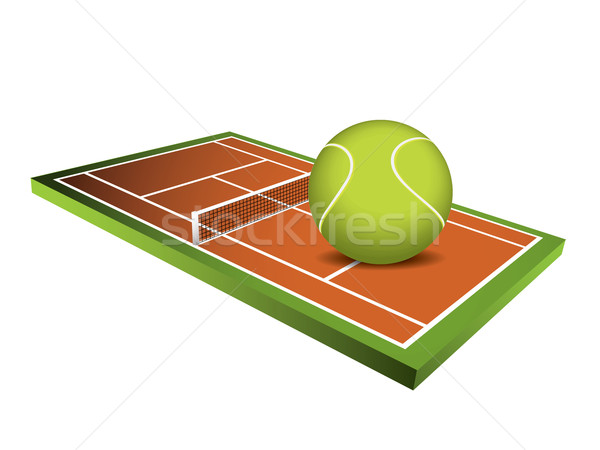 3d Tennis field vector Stock photo © graphit