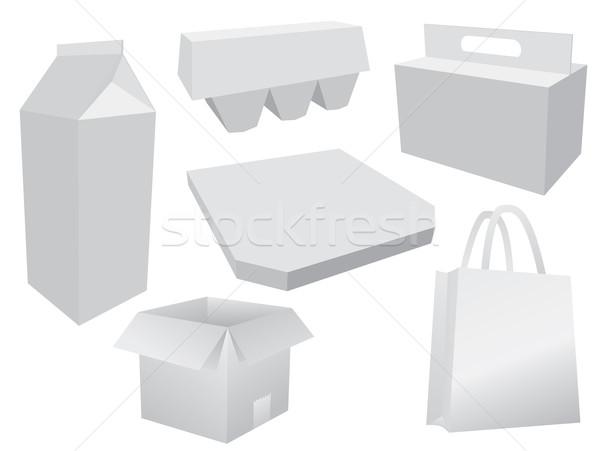étel doboz elrendezés papír terv háttér Stock fotó © graphit