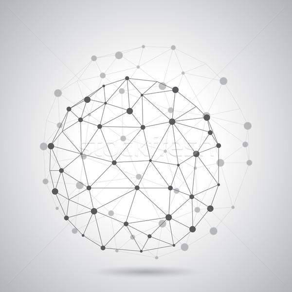 Abstract meetkundig moleculair computer internet medische Stockfoto © graphit