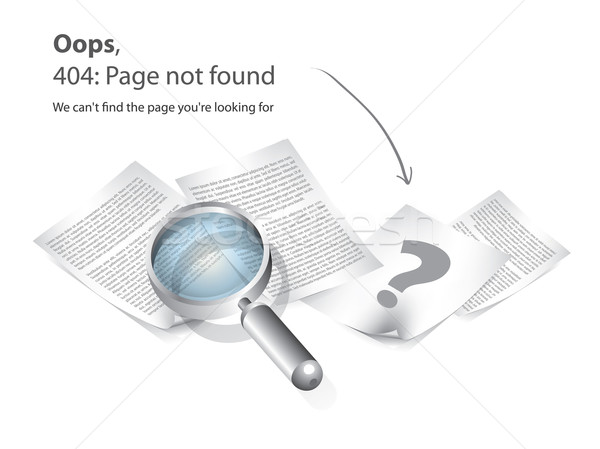 Stock photo: 404 Page not found vector