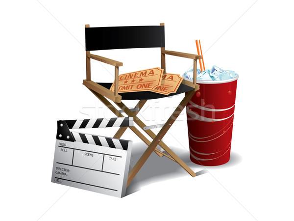 Movie director chair Stock photo © graphit