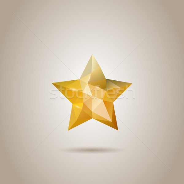 Abstrato estrela vidro sombra moderno luxo Foto stock © graphit