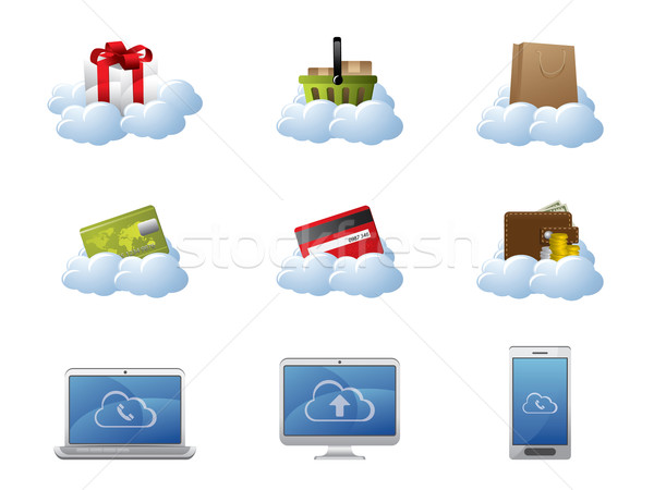 E-Commerce in Cloud Computing Stock photo © graphit