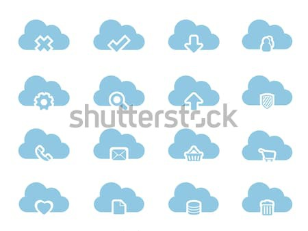 3d Icons for Cloud Computing Stock photo © graphit