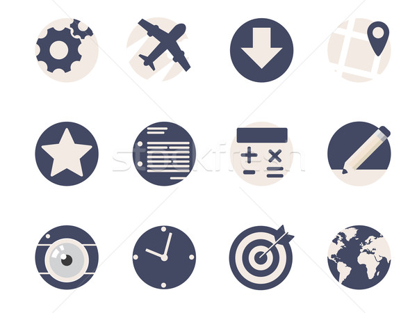 Rounded Flat Icons for Web and Mobile Applications Stock photo © graphit