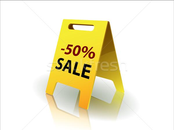 50 yüzde satış imzalamak alışveriş renk Stok fotoğraf © graphit