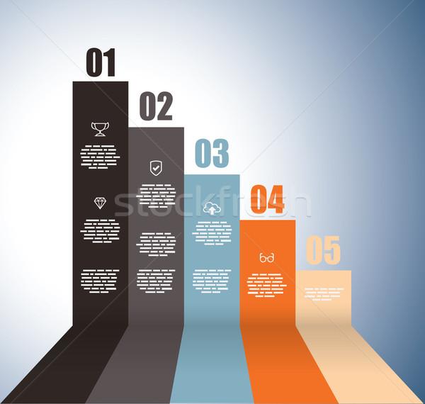 Gráfico números negócio bar corporativo Foto stock © graphit