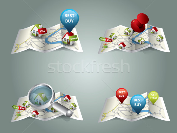 Real estate maps Stock photo © graphit