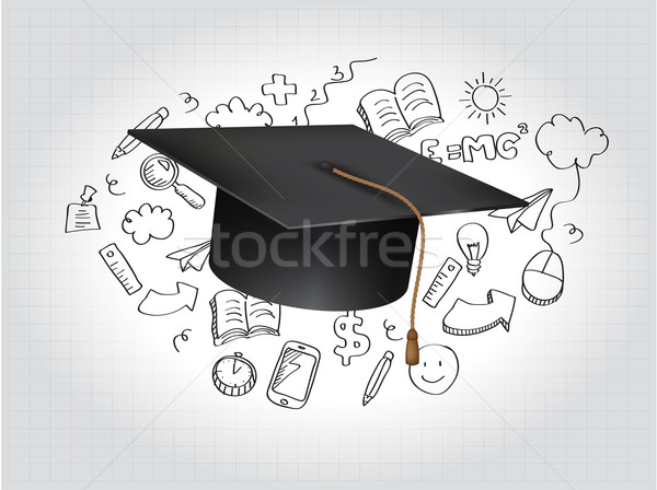 Graduation Concept Vector Illustration Stock photo © graphit