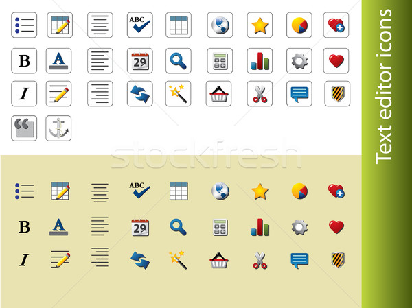 Text editor icons Stock photo © graphit