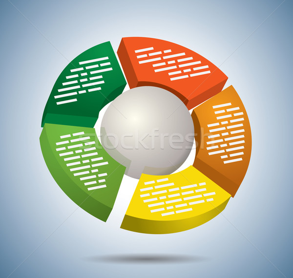 Circle multicolor graph Stock photo © graphit