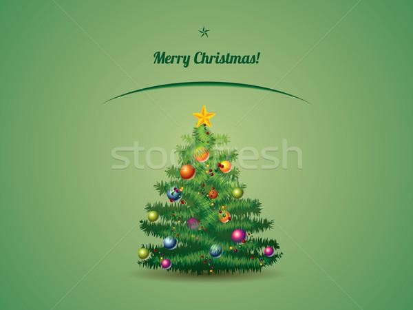 Stok fotoğraf: Noel · ağacı · kartpostal · mutlu · arka · plan · sanat · kış