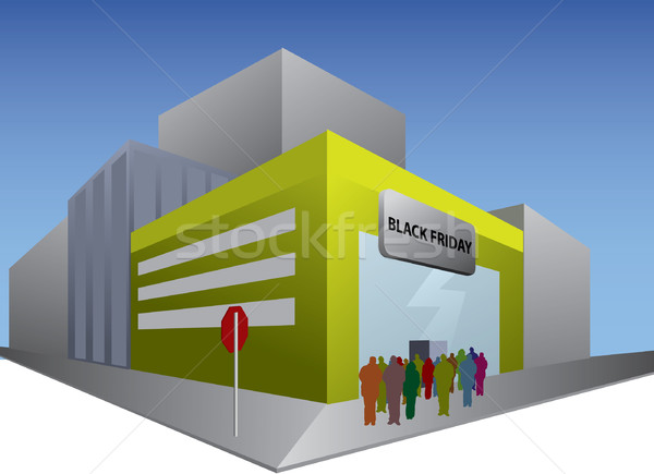 Black friday shop Stock photo © graphit