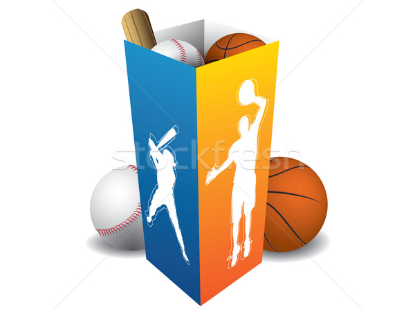 Sport player box with accesories Stock photo © graphit