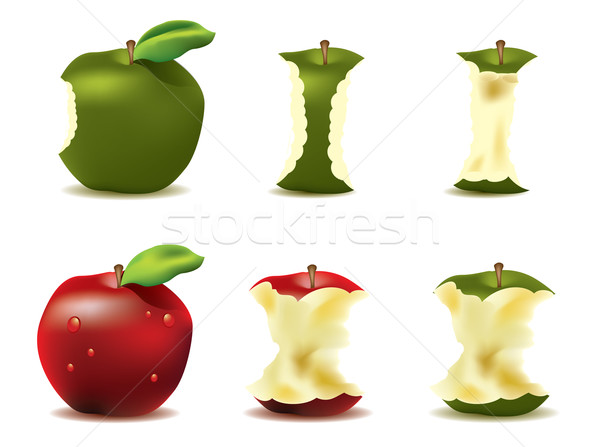 Mouthwatering fresh apple vector Stock photo © graphit