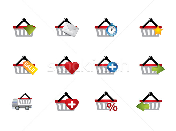 E-commerce cart icons Stock photo © graphit