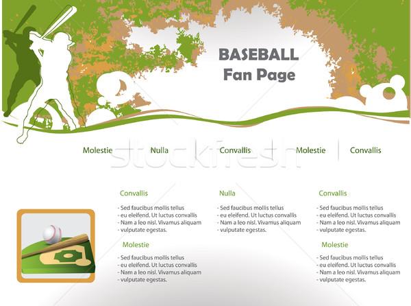 Baseball web site design template Stock photo © graphit