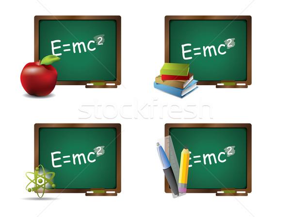 Escolas caneta mundo educação assinar Foto stock © graphit