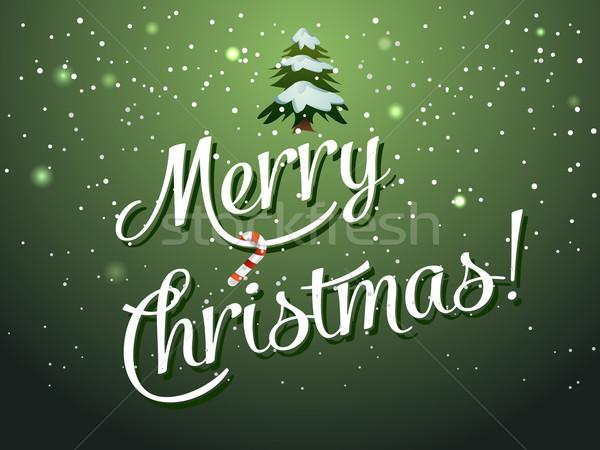 Neşeli Noel tebrik kartı kâğıt mutlu kırmızı Stok fotoğraf © graphit